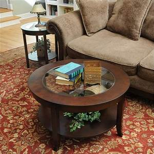 Round coffee table with glass top roselawnlutheran for 50 inch round coffee table