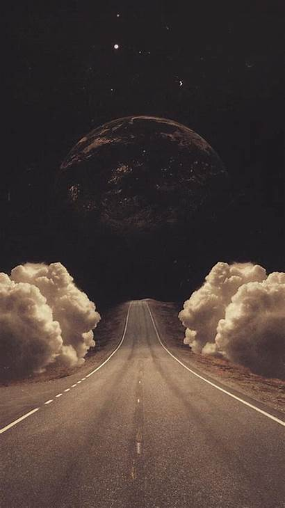 Iphone Wallpapers Abstract Clever Surreal Collage Road