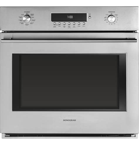 monogram  electronic convection single wall oven zetshss ge appliances
