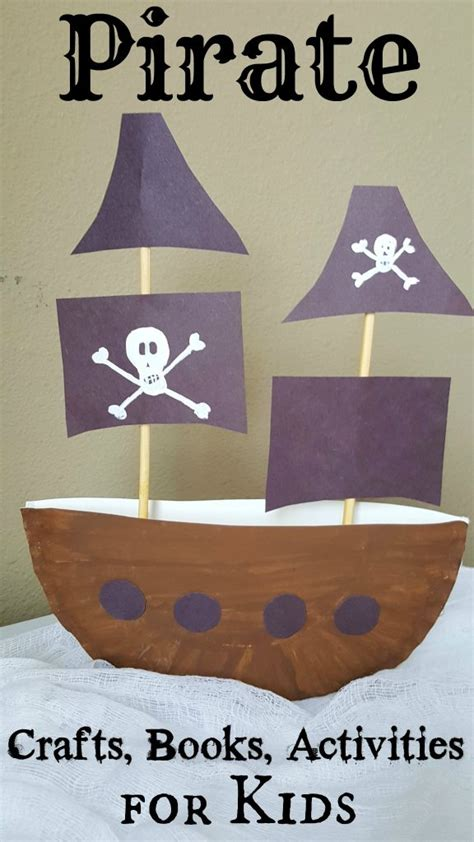 pirate ship paper plate craft  project  kids