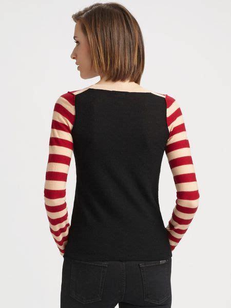 sonia  sonia rykiel cotton knit heart sweater  black lyst