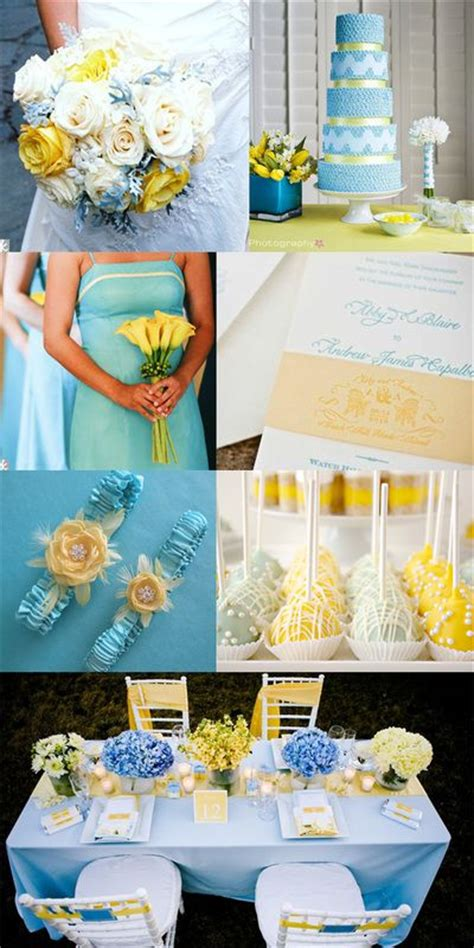 lovely light blue and yellow wedding inspirations we how to do it