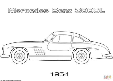 Ausmalbild mercedes e klasse ausmalbilder kostenlos zum. 1954 Mercedes-Benz 300SL coloring page | Free Printable Coloring Pages