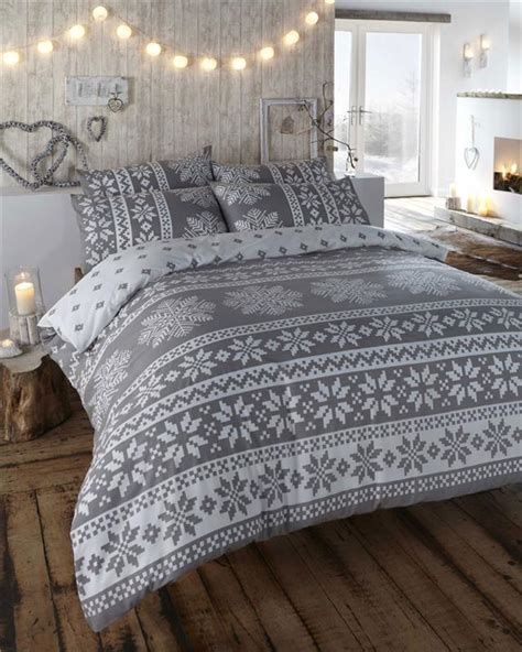 Bed Cover Sets by Winter Alpine Snow Flake Design Duvet Cover Bed Sets