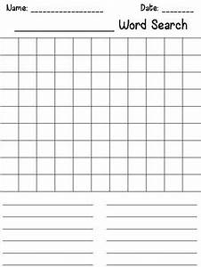make your own word search template by megan joy tpt With create your own word search template