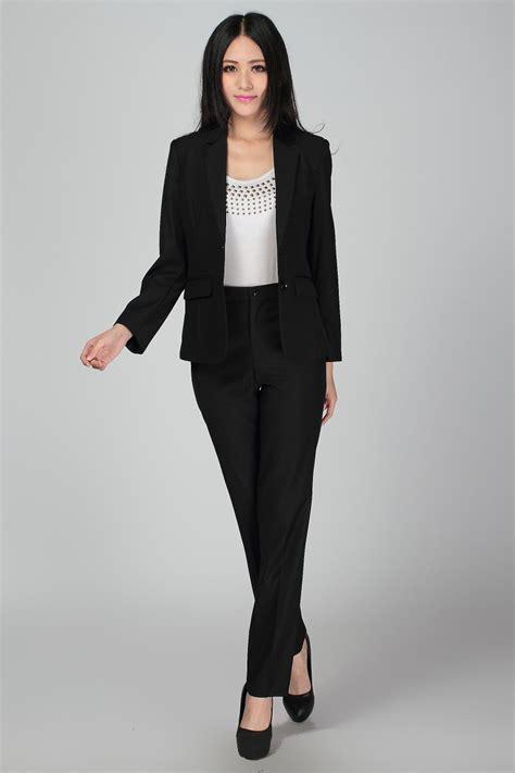 Black Womens Pants Suit Dress Yy