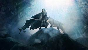 Jon Snow and Ghost Wallpaper Art - Game of Thrones ...
