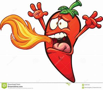 Spicy Vector Pepper Chili Clip Fire Cartoons