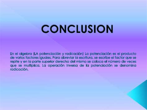 Conclusion Résumé De Texte by Rincon De Las Matematicas Potenciacion Y Radicacion