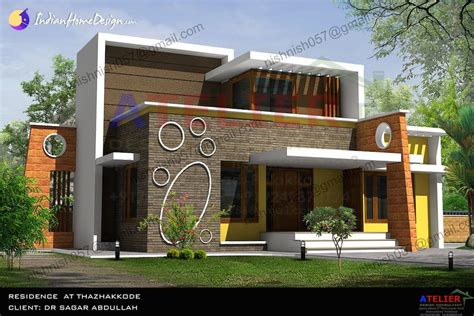 Home Design Consultant by Single Floor Contemporary Indian Home Design Sqft Aetlier