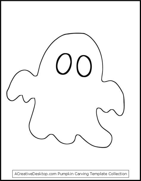 Ghost Template Pumpkin Outline Printable Az Coloring Pages