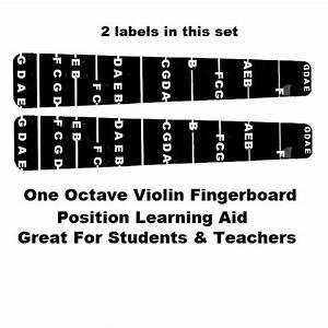 2 Violin Fiddle Fingerboard Fret Guide Labels Fingering 4