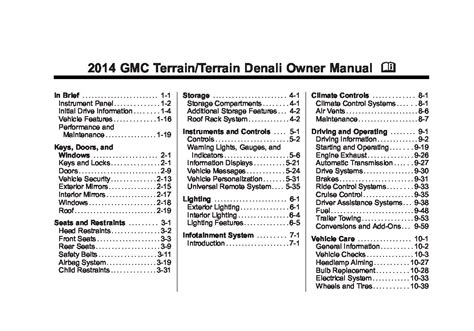 service manuals schematics 2010 gmc terrain instrument cluster 2010 gmc terrain owners manual just give me the damn manual