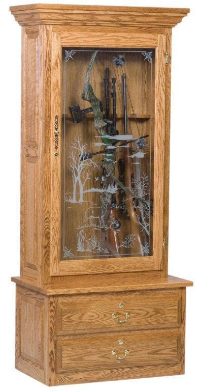 american bow hunter single door gun cabinet