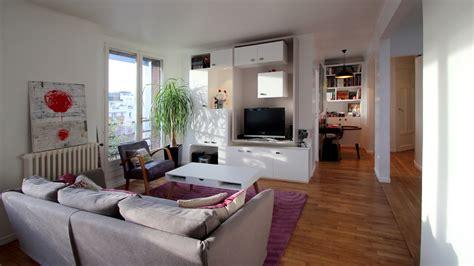 cuisine avec veranda aménagement chambre dans un cube buttes aux cailles