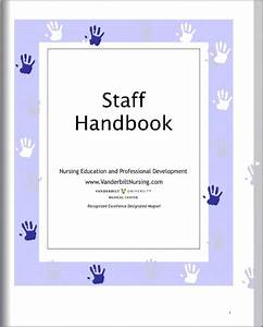 nursing education and professional development nepd With employee handbook cover page template