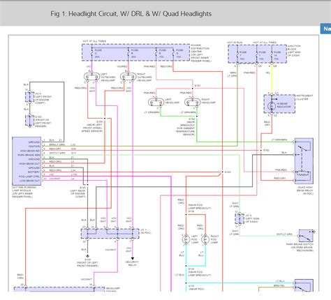 Headlight Wiring Diagram Looking For