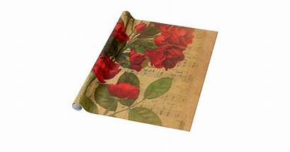 Wrapping Victorian Watercolor Sheet Rose Paper