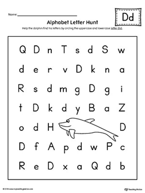 Picture Letter Match Letter D Worksheet Myteachingstationcom