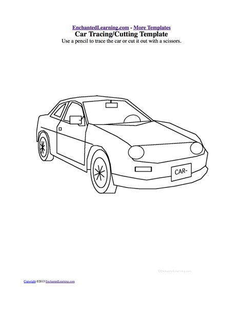 vehicle templates printable car template portablegasgrillweber