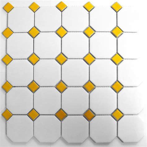 Blanco & Nero Octagon Matt & Gloss 30cm x 30cm Mosaic Tile