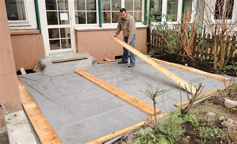 Für Terrasse by Fundament F 252 R Terrasse Selbst De