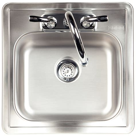 single basin stainless steel sink shop kindred essential 15 in x 15 in satin single basin