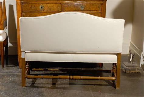 upholstered bench with back upholstered bench with back at 1stdibs