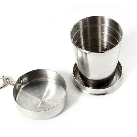 75 ml to cups 75ml retractable folding collapsible cup xicaras canecas stainless steel portable outdoor travel