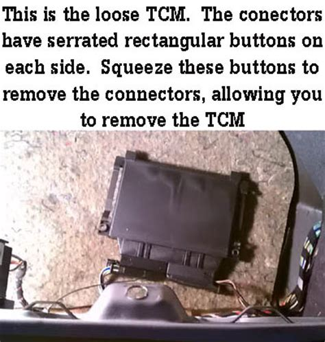 instructional cleaning  tcm transmission control