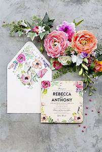 17 best ideas about floral wedding invitations on for Wedding invitations with real flowers