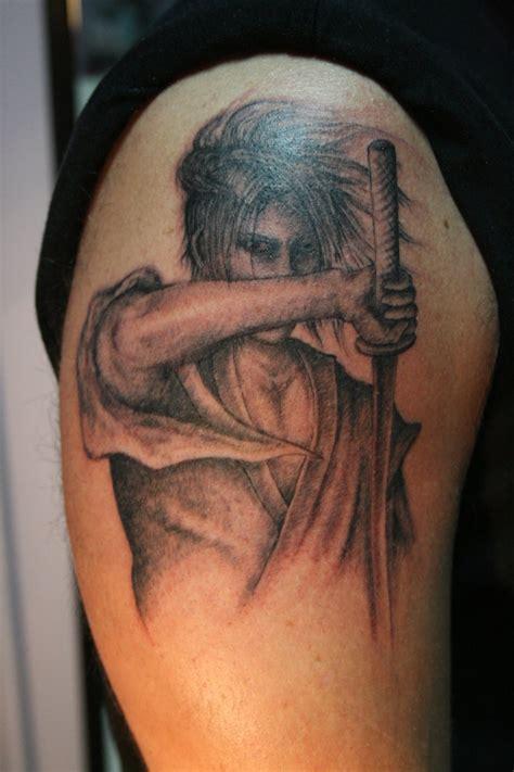 shoulder japanese samurai tattoos  men zentrader