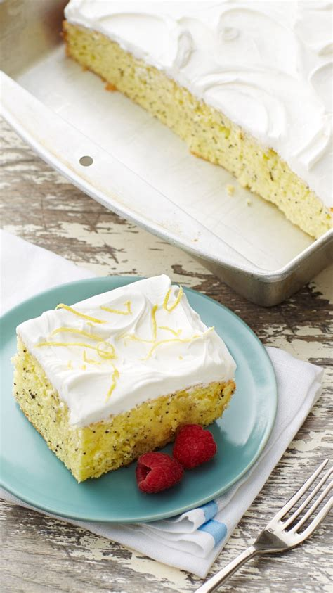 lemon poppy seed poke cake recipe   cakes cake