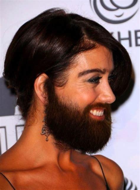 female celebrities  beard  body hair funcage