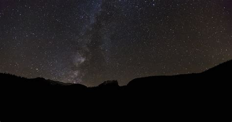 Star Time Lapse Milky Way Galaxy At Night Stock Footage