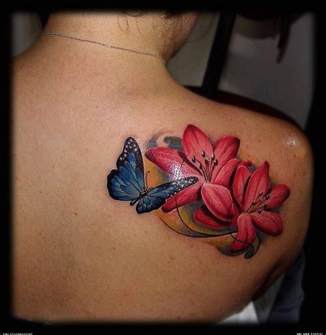 flower  butterfly tattoos ideas  pinterest