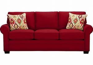 Cindy Crawford Home Bellingham Cardinal Sofa - Sofas (Red)