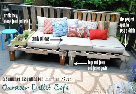 diy pallet wood outdoor sofa 99 pallets