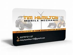 Business card design for tim hamilton by hardcore design for Mobile mechanic business cards
