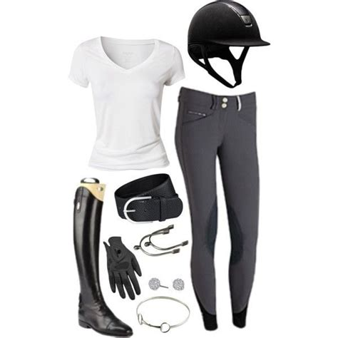 riding horse equestrian outfits outfit simple horseback boots hunter clothes spring english helmet clothing summer jumping dressage gear cute shirt