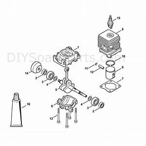 Stihl Fs 55 Brushcutter  Fs55r  Parts Diagram  Cylinder 2