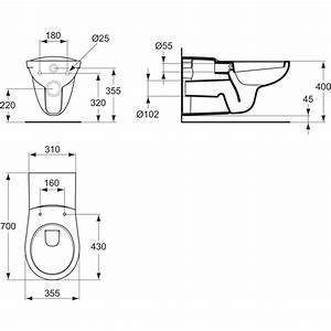 Cuvette Wc Pmr : product details p2430 cuvette suspendue rallong e ~ Premium-room.com Idées de Décoration