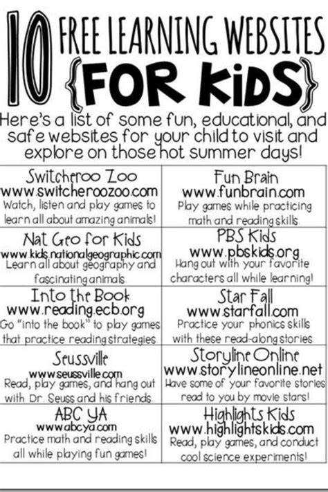 educational websites for learning websites for kids 10 free online websites for