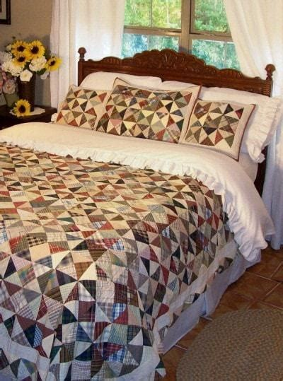 Kaleidoscope Quilt   Retro Barn Country Linens