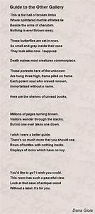 Guide To The Other Gallery Poem By Dana Gioia