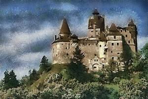 Dracula Castle Romania Painting by Georgi Dimitrov