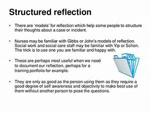 reflection on practice With structured reflective template