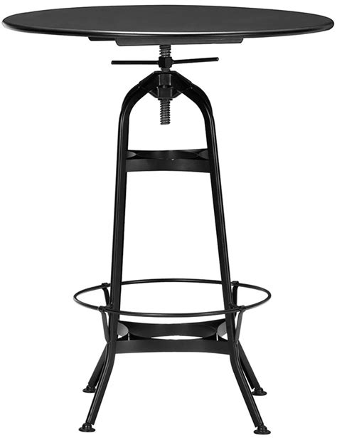 industrial table ls toledo industrial black adjustable bar table with