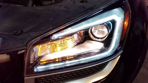 gmc acadia suv test headlights  changing