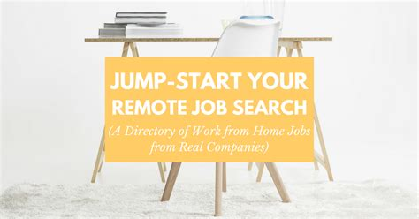 Jump-start Your Remote Job Search